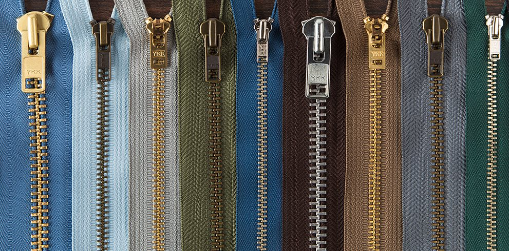 YKK Zippers Assorted Sizes and Colors